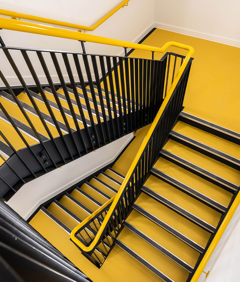 The Hold Ipswich Yellow Staircase